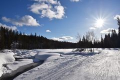 Lapland, Φινλανδία Στοκ εικόνες με δικαίωμα ελεύθερης χρήσης