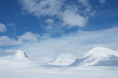 Lapland. Snowy mountains in Kungsleden, Lapland, North of Sweden Stock Images
