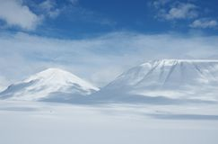 Lapland. Snowy mountains in Kungsleden, Lapland, North of Sweden Royalty Free Stock Photo