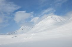 Lapland. Snowy mountains in Kungsleden, Lapland, North of Sweden Royalty Free Stock Photos