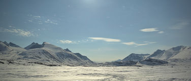 lapland bergvinter Arkivfoton