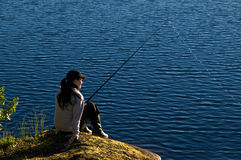 Lapland fishing Royalty Free Stock Photos