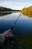 Lapland fishing Royalty Free Stock Photo