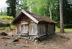 Lapland Hut. Traditional dwelling of the Lapps stock photo