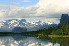 Lapland krajobraz Zdjęcia Stock
