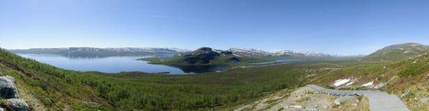 Lapland krajobraz od Saana Spadał, Kilpisjarvi, Enontekio, Fiński Lapland, Finlandia, Europa Zdjęcie Royalty Free