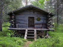 Lapland Log Cabin Royalty Free Stock Photos