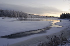 Lapland river Ounasjoki Stock Photos