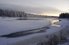 Lapland river Ounasjoki Stock Photos