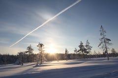 Lapland (Rovaniemi), Finlandia Imagem de Stock Royalty Free