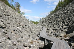 Lapland's hills. Hills in the northern part of Finland called Pyhatunturi Stock Photos
