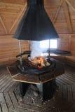 Lapland spis i en Sami Kota Arkivbild