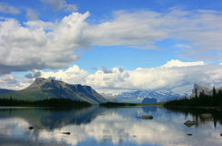 Lapland view. View to Sarek National Park in Swedish Lapland over a lake stock image