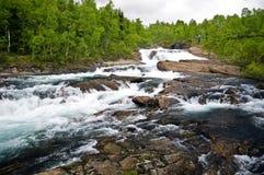 Lapland whitewater Stock Photos