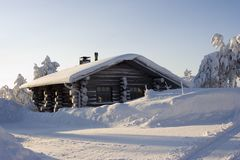 Lapland winter wonderland Stock Photo