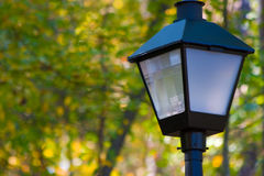 Lapmpost. Close-up view of a lamppost in a park Stock Image
