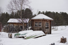 Laponia en invierno Foto de archivo libre de regalías