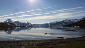 Laponian-Gebirgssee Lizenzfreie Stockfotografie
