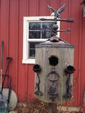 LaPorte, IN farm birdhouse Royalty Free Stock Image