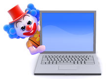 lapot för clown 3d Royaltyfri Foto