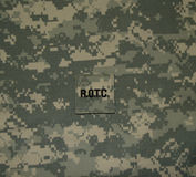 Lapp för Förenta staterna ROTC på ACU Arkivbilder