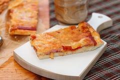 Lappa av Pizza Arkivbilder