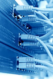 Lappa panelserverkuggen med binder med rep, blått tonar Arkivfoton
