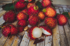 Lappaceum do Nephelium do Rambutan Imagem de Stock