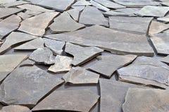 lappad trottoar Arkivfoto