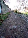 Lappad trottoar Royaltyfria Foton