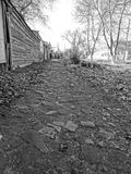 Lappad trottoar Royaltyfri Foto