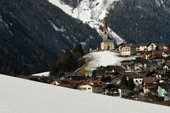 Lappago, Val Pusteria Italy 2017: Bella scena di inverno di Lappago - Pustertal, Italia Fotografie Stock Libere da Diritti