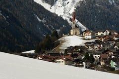 Lappago, Val Pusteria Italy 2017: Escena hermosa del invierno de Lappago - Pustertal, Italia Fotos de archivo libres de regalías