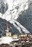 Lappago Val Pusteria Italy 2017: Härlig vinterplats av Lappago - Pustertal, Italien fotografering för bildbyråer