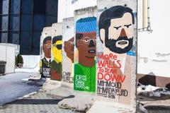 Berlin vägg - mer väggar som ska rivas, besegrar royaltyfri fotografi
