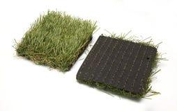 Lappar av konstgjort gräs Arkivbild