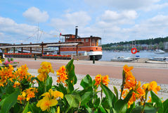 Lappeenranta, Finland. Very beautiful flowering Quay of Lappeenranta, Finland Royalty Free Stock Photography