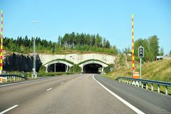 Highway tunnel in the mountain royalty free stock photos