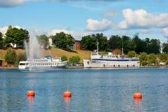 Lappeenranta finland Bateaux blancs Images libres de droits