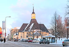 Lappeenranta finland De kerk van heilige Mary stock afbeeldingen