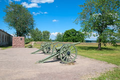 Lappeenranta. Finland. French cannons Royalty Free Stock Photo