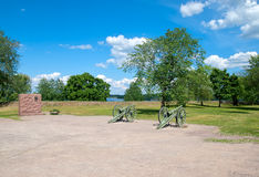 Lappeenranta. Finland. French cannons Royalty Free Stock Photography