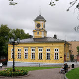 Lappeenranta, Finland - 29 July 2016: The wooden town hall. Royalty Free Stock Photo