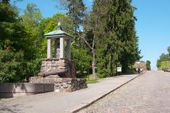 Lappeenranta, Finland. Log Monument. LAPPEENRANTA, FINLAND - JUNE 15, 2016: Log Monument. Monument of the battle of Villmanstrand (Lappeenranta) 1741 on stock photos