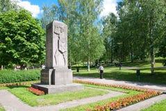 Lappeenranta finland Monument i Central Park Arkivbild