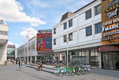 Lappeenranta. Finland. People near Isokristiina Shopping Center Royalty Free Stock Image