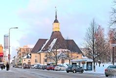 Lappeenranta finland Sanktt mary kyrka arkivbilder
