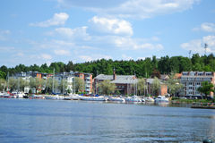 Lappeenranta, Finland. View of lake Saimaa and town of Lappeenranta, Finland Stock Images