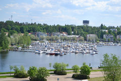 Lappeenranta, Finland. View of lake Saimaa and town of Lappeenranta, Finland Royalty Free Stock Image