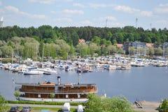 Lappeenranta, Finland. View of lake Saimaa and town of Lappeenranta, Finland stock photography